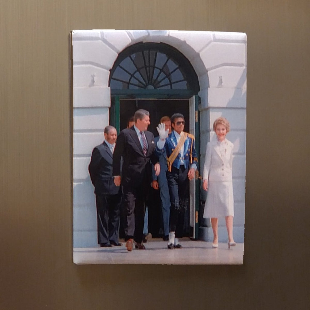 President and Mrs Reagan with Michael Jackson Magnet