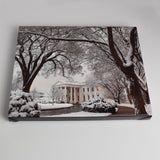 White House in Snow Canvas Print