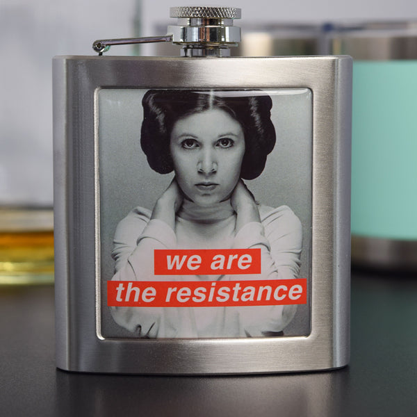 We Are The Resistance 6 Oz. Flask