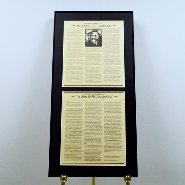 Framed Document: Martin Luther King I've Been to the Mountaintop Speech