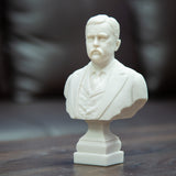Theodore Roosevelt 6 1/2-inch White Bust