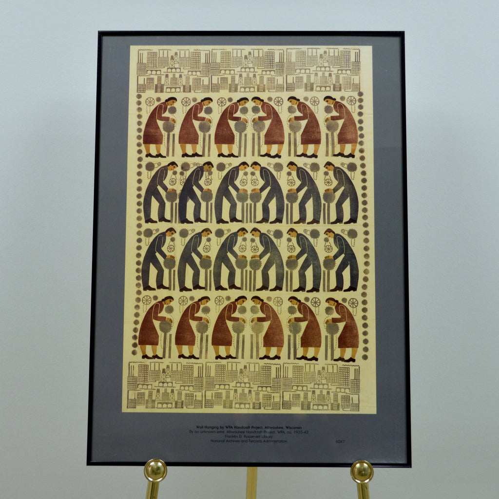 Wpa Handicraft Project Wall Hanging Poster National Archives Store
