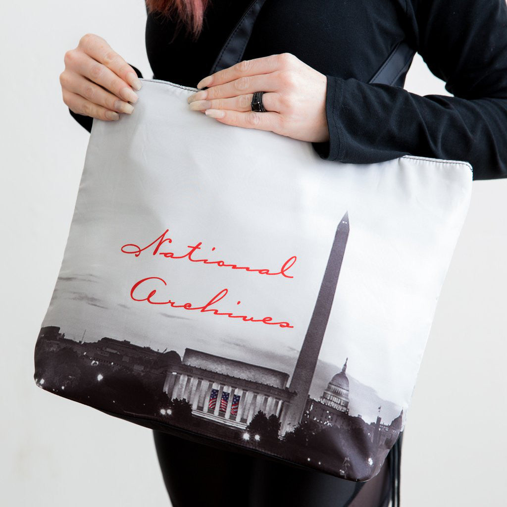 D.C. Night Scene Microfiber Tote Bag