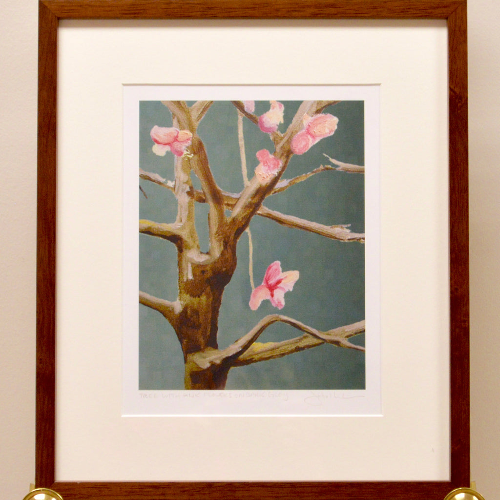 Framed Print: Pink Cherry Blossoms on a Tree
