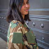 Ladies Camo Bomber Jacket