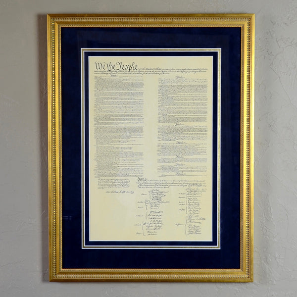 U.S. Constitution Custom Framed Document