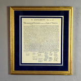 Declaration of Independence Custom Framed Document