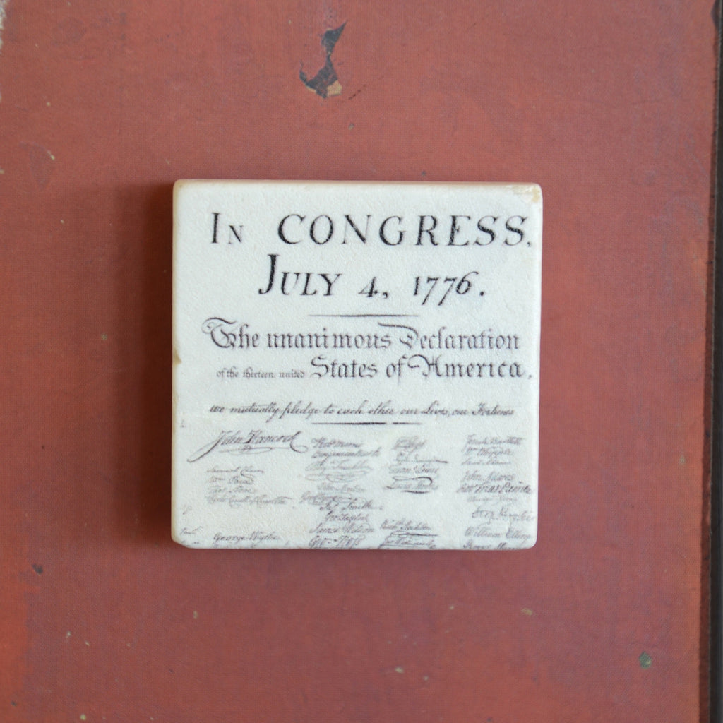 Declaration of Independence Tile Magnet