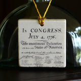 Declaration of Independence Tile Ornament