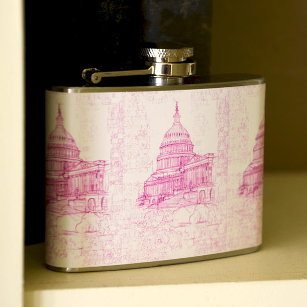 Capitol First Pink 4 Oz. Flask