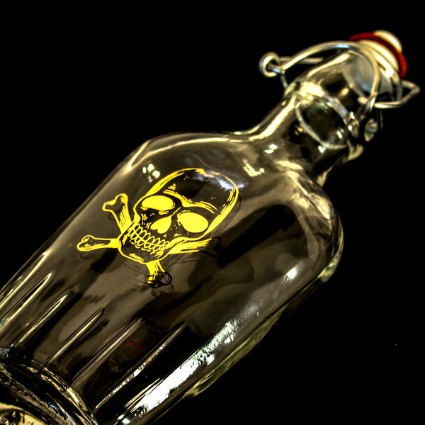 Gold Skull Crossbones Flask