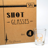 Skull Shot Set of Four Glassware