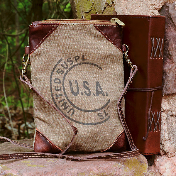 Stamped USA Crossbody Bag
