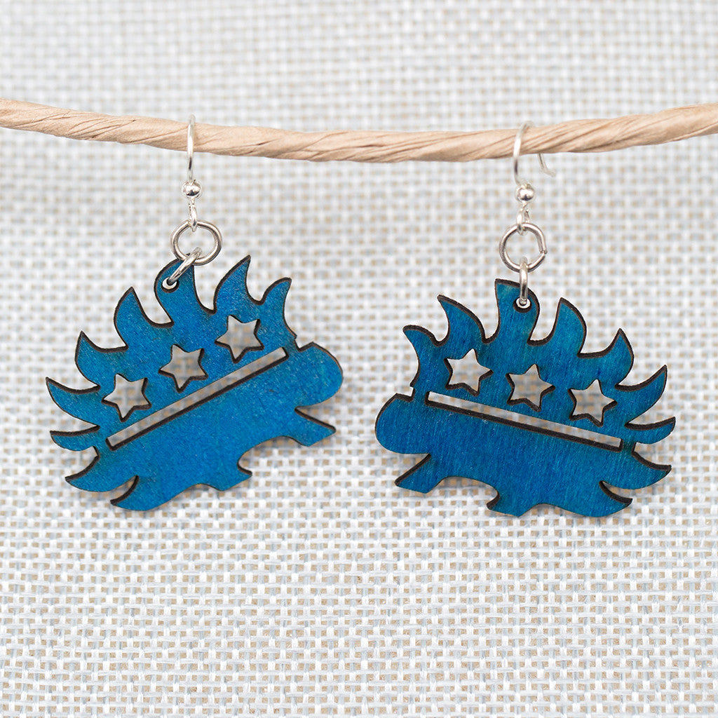 Libertarian Porcupine Earrings