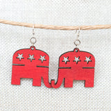 Republican Elephant Earrings