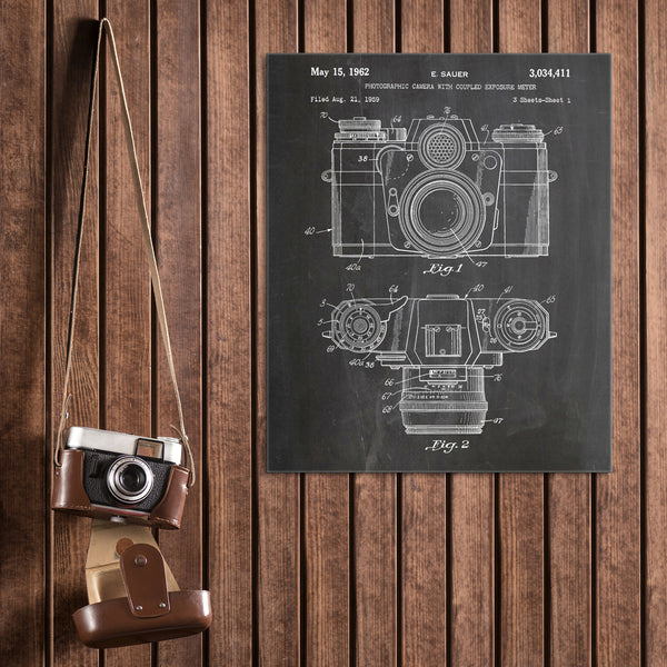 Camera Canvas Patent Print