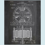Tesla Electric Magnetic Canvas Patent Print