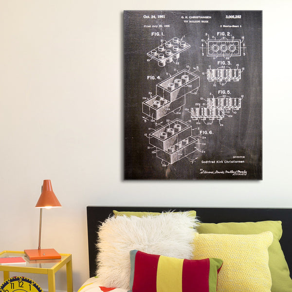 Lego Blocks Canvas Patent Print