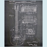 Gibson Guitar Canvas Patent Print