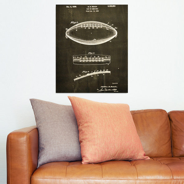 Football Canvas Patent Print