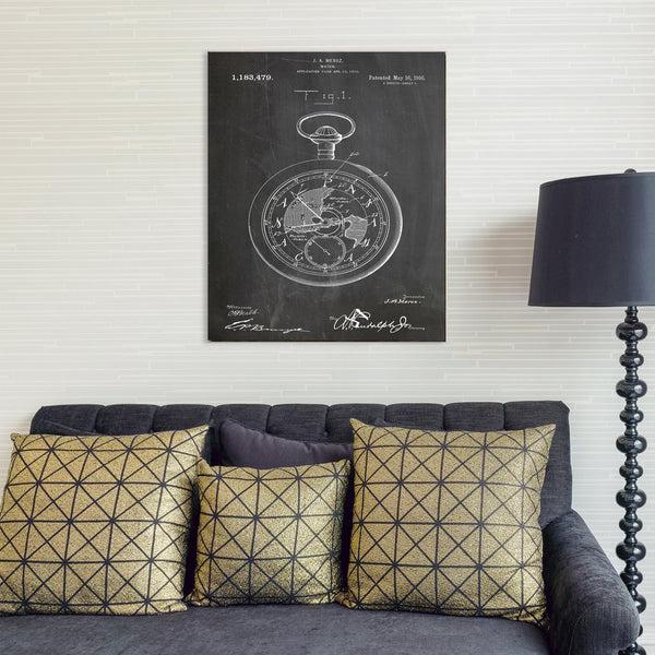 Pocket Watch Canvas Patent Print