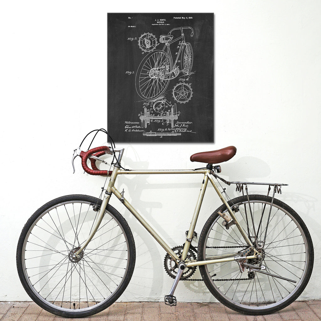 Bicycle Canvas Patent Print