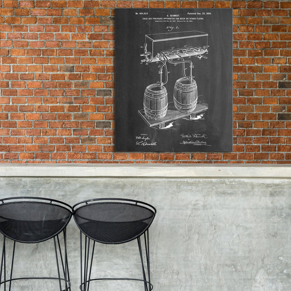 Beer Tap Canvas Patent Print