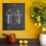 Wine Cooler Canvas Patent Print