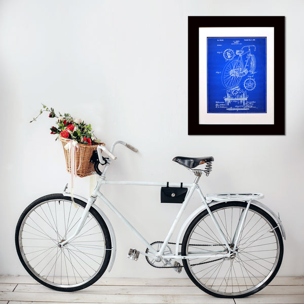 Framed Bicycle Patent Print