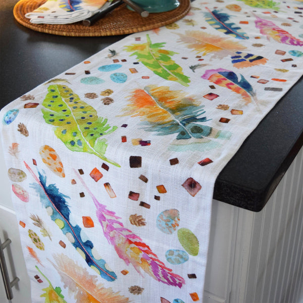 Feather Pen Table Runner