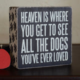 All the Dogs Box Sign
