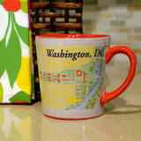 Washington, D.C. Map Java Mug