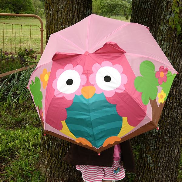 3D Owl Kids Umbrella