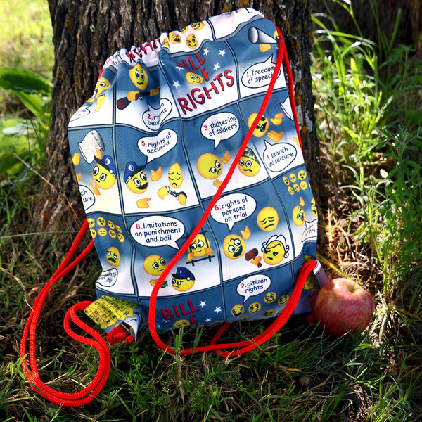 Amending America Emoji Drawstring Backpack