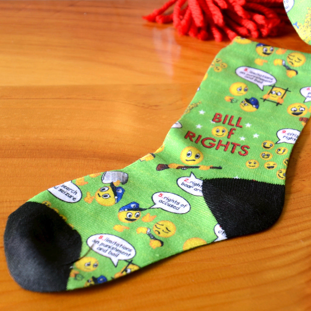 Amending America Emoji Youth Socks