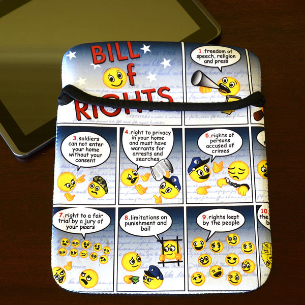 Bill of Rights Emoji IPad Sleeve