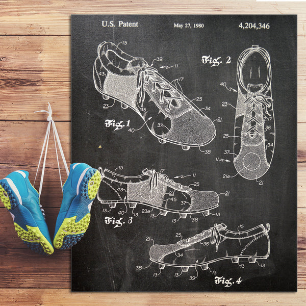 Soccer Shoe Canvas Patent Print