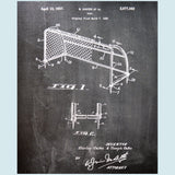 Soccer Goal Canvas Patent Print