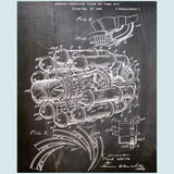 Jet Engine Canvas Patent Print