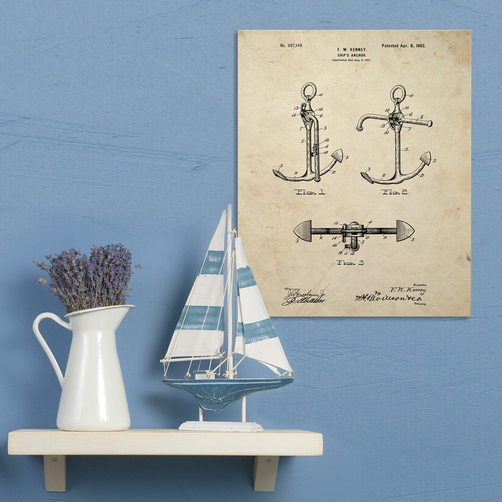 Anchor Canvas Patent Print