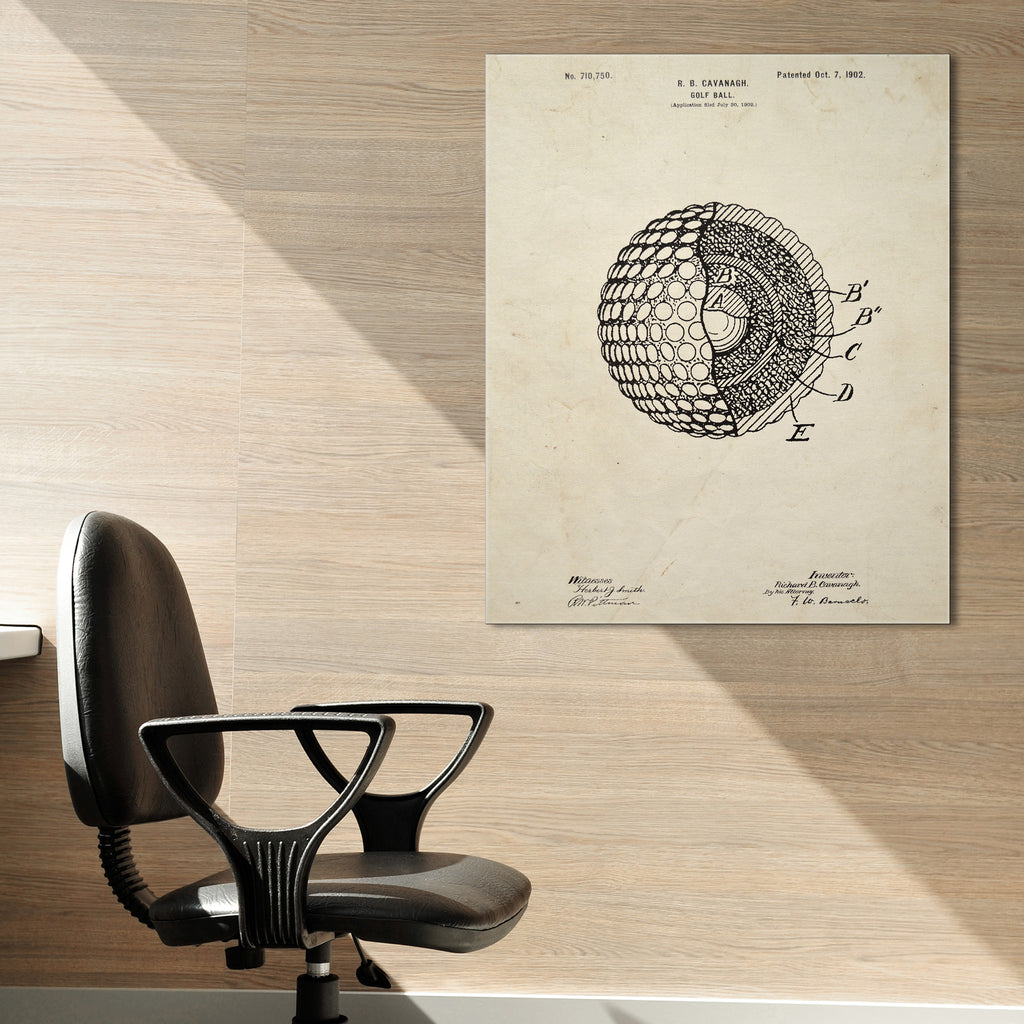 Golf Ball Canvas Patent Print