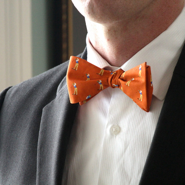 Slice Orange Bow Tie
