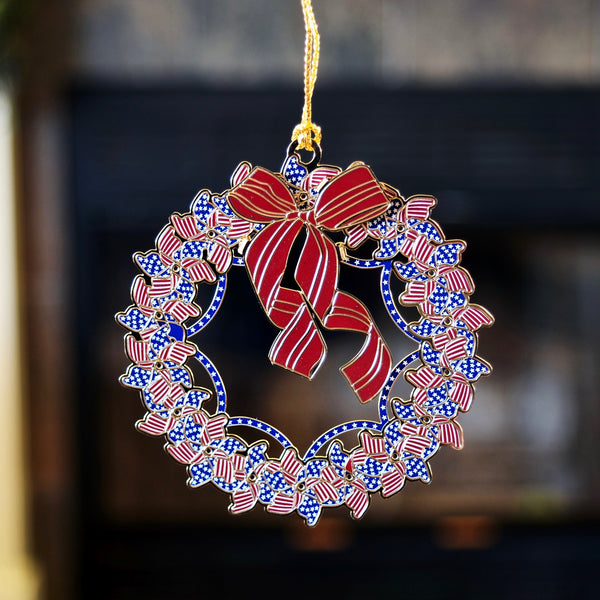 Patriotic Wreath Ornament
