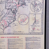 Framed Document Revolutionary War Map 1775-1781