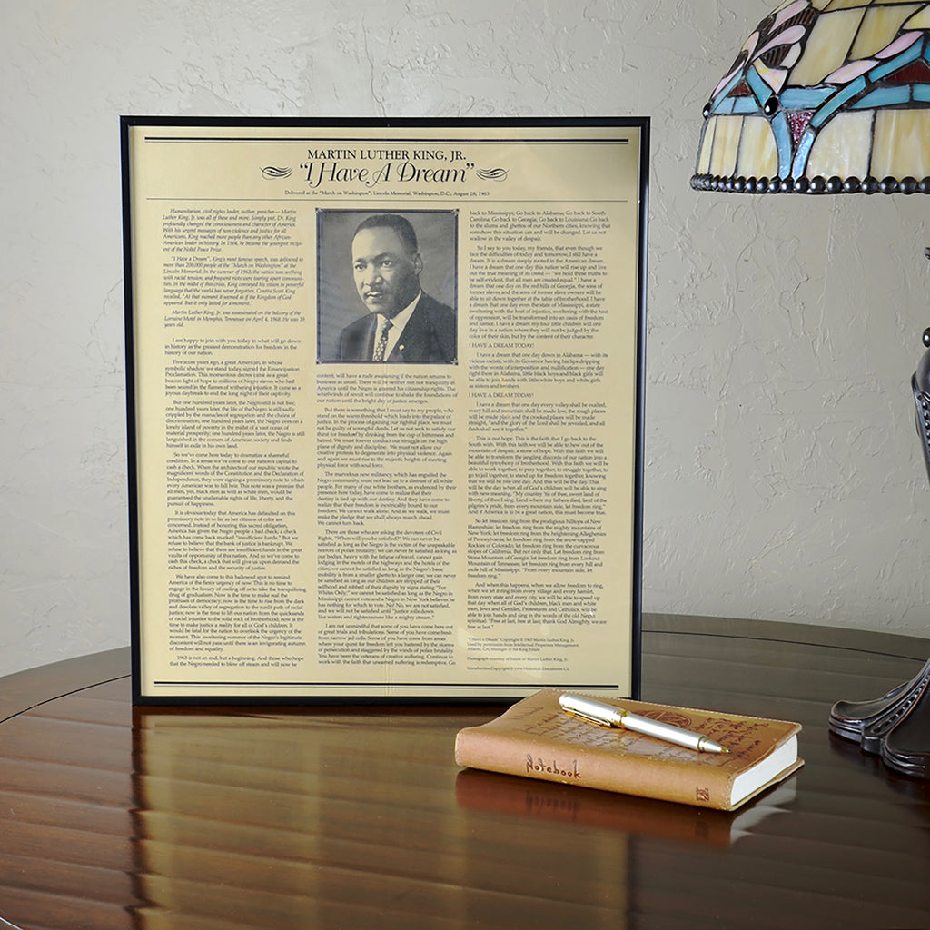 Framed Document Martin Luther King I Have A Dream Speech National Archive Store Transcript Of Dr. Text Full To The By Junior Analysi