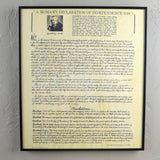 Framed Document Woman's Declaration