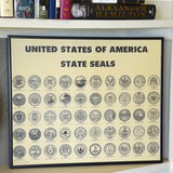 Framed Document US State Seals