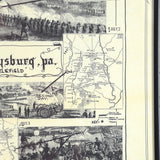 Framed Document: Gettysburg Battlefield Map