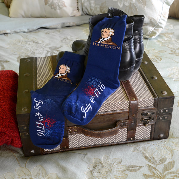 Hamilton 1776 Royal Blue Socks