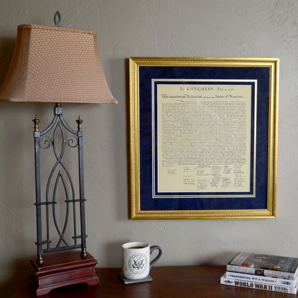Premium Framed Declaration of Independence